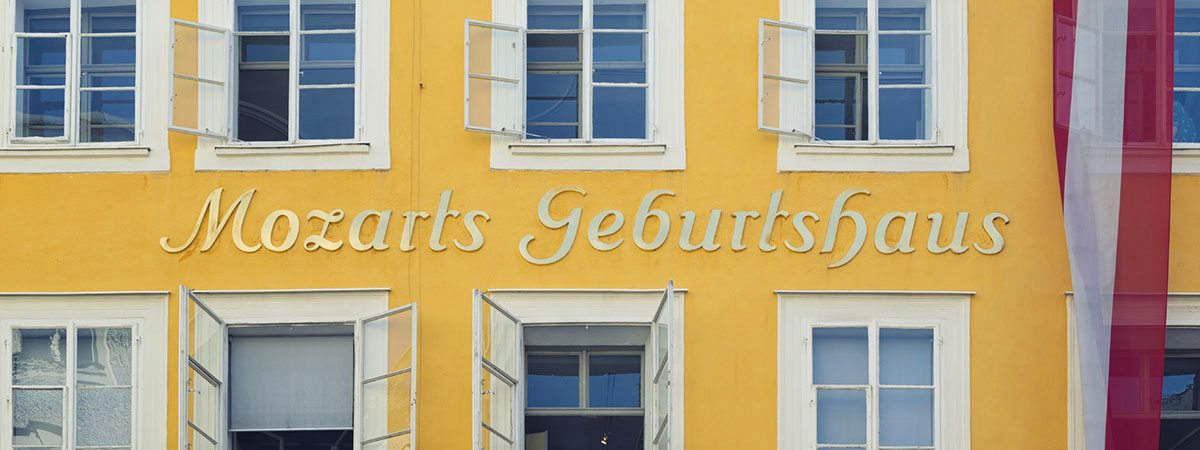 Ausflugsziel Mozart Geburtshaus, Salzburg